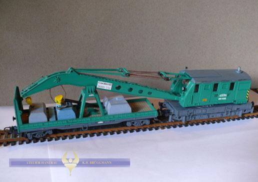 """""""Schwarzbau"""" 75 t Eisenbahnkranwagen"""