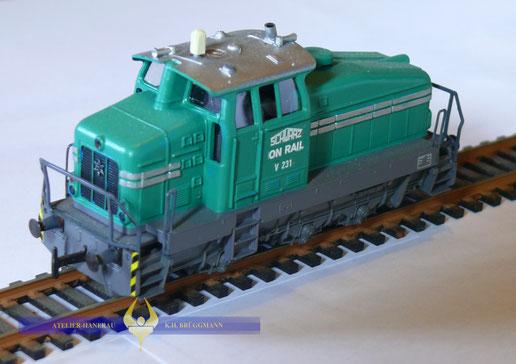 """Diesellokomotive Henschel DHG 500 im """"Schwarzbau-Look"""""""