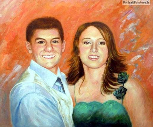 portrait-peinture-couple-marie-mariage