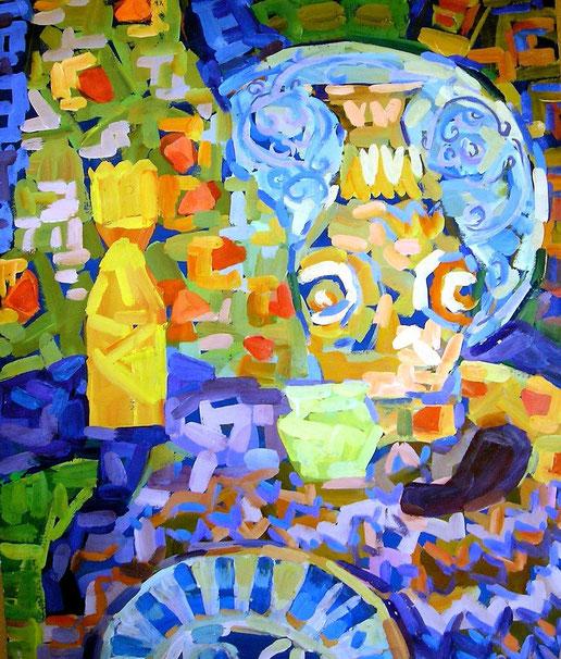 Натюрморт , декоративная, современная,живопись, гуашь, темпера, Циркина, Богачева, Мария, Tsirkina, Bogacheva,