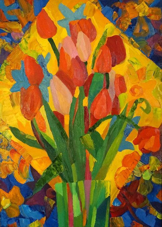 Композиция,натюрморт, Пасха, красная, красный, декоративная живопись, современная,живопись, гуашь, темпера, Циркина, Богачева, Мария, Tsirkina, Bogacheva,