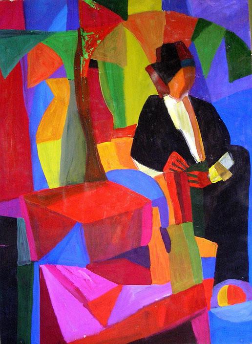 Композиция, модель , декоративная, современная,живопись, гуашь, темпера, Циркина, Богачева, Мария, Tsirkina, Bogacheva,