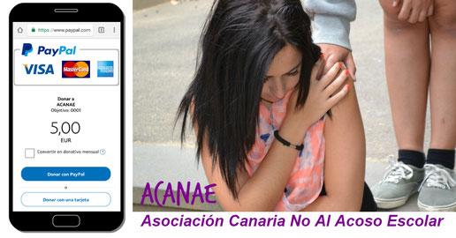 Hacer un donativo a ACANAE - Asociación Canaria No Al Acoso Escolar