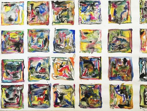 cours de peinture encres et lavis - Aix en Provence