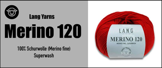 Lang Yarns Strickwolle Merino120 Schurwolle Merinowolle