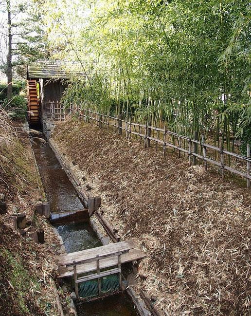 2月10日(2015) 水車小屋と用水路:2月6日、小平ふるさと村にて