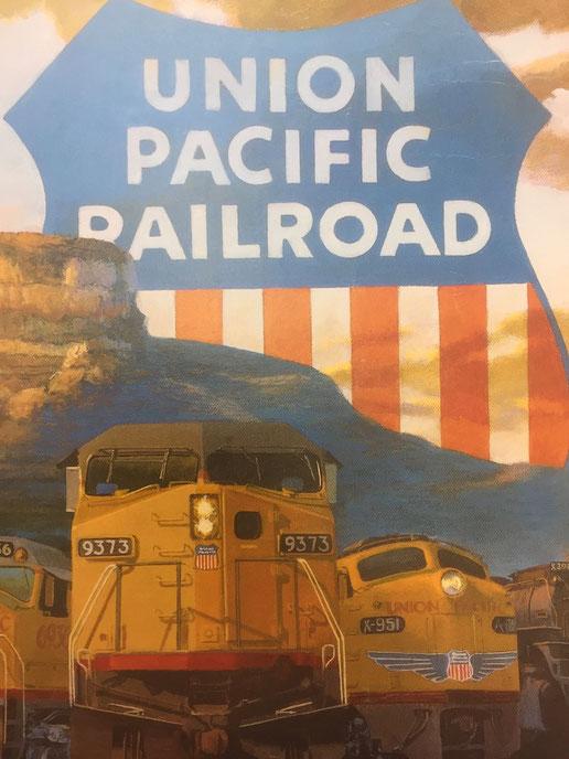 Union Pacific Railroad - altes Plakat