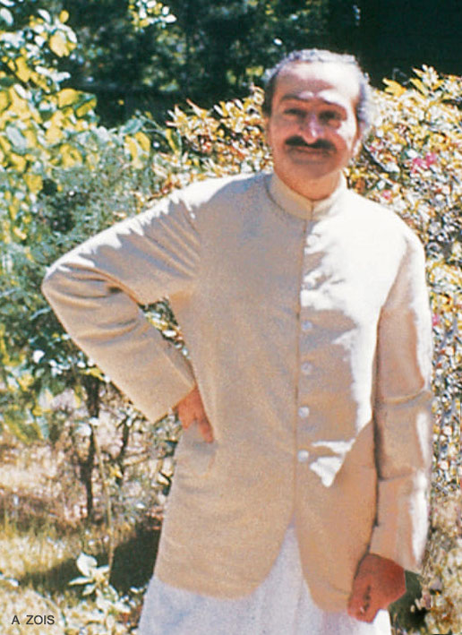 1952 : Meher Baba at the Meher Center at Myrtle Beach, SC.  Image edited by Anthony Zois