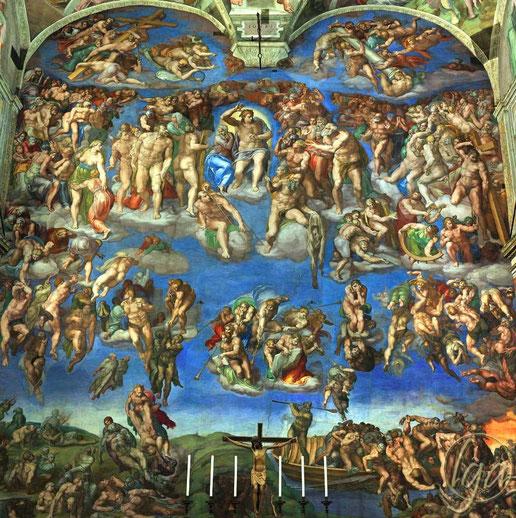 """Michelangelo, """"Il giudizio universale"""""""