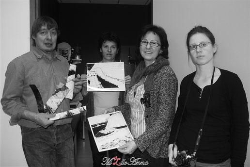 Photo de groupe M.J.C Montbrison photographie en Noir & Blanc © M'Zlle Anna, photographe