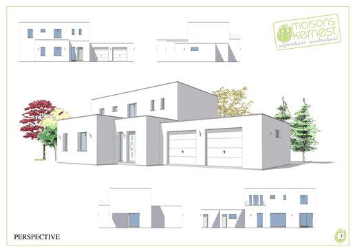 Maisons Kernest, concepteur de plan maison 4 chambres etage