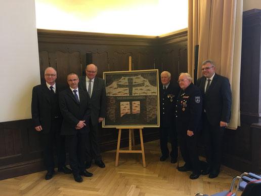 Von Links: Christoph Waldecker, Werner Schlenz, Ghislain D`hop, Willi Kremer, Hans Arnold, Marius Hahn