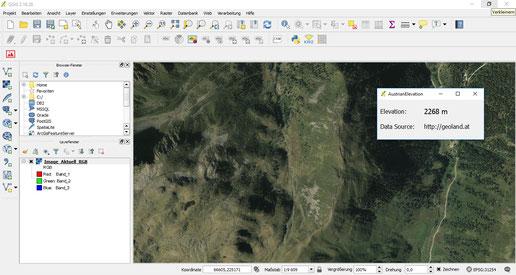 """Q-GIS 3 Plugin """"AustrianElevation"""""""