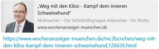 """""""Weg mit den Kilos - Kampf dem inneren Schweinehund"""""""