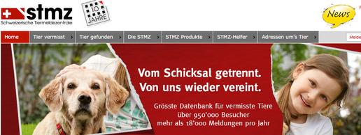 Tier vermisst? Schweizerische Tiermeldezentrale