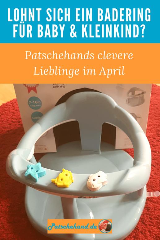 Pinterest-Grafik zu Erfahrungen zu Aquababy-Badering von Thermobaby und Keramik-Messerblock.