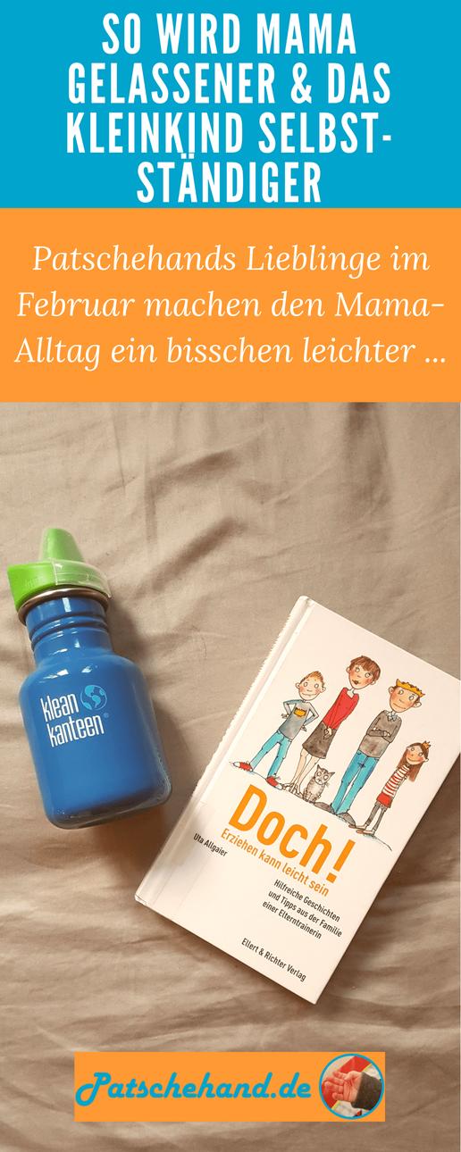 """Pinterest-Grafik zu """"Klean Kanteen""""-Praxistest und Buchtipp zur Erziehung."""