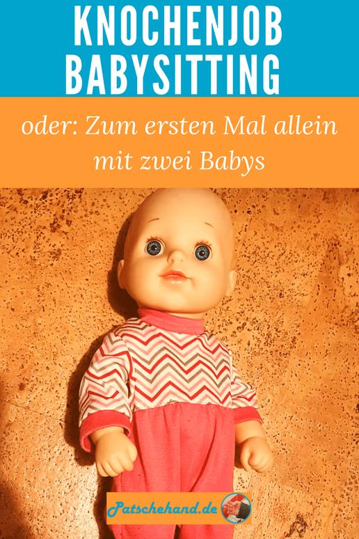 Knochenjob Babysitting: Grafik für Pinterest auf Mama-Blog Patschehand.de