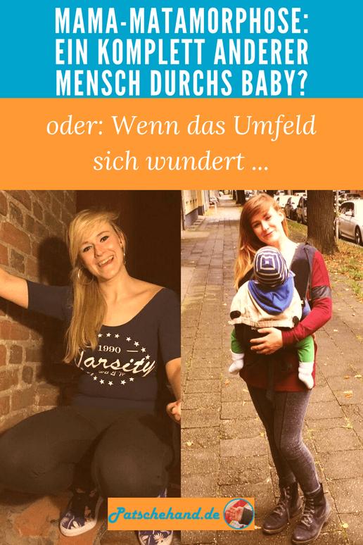 Mama-Metarmorphose: Ein komplett anderer Mensch durchs Baby? Grafik auf Mama-Blog Patschehand.de