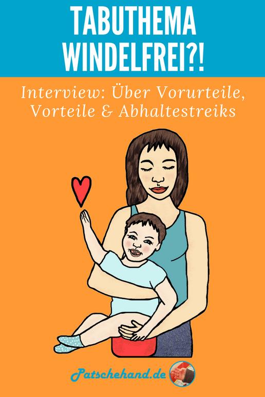 Interview zu Tipps, Erfahrungen, Vorteilen & mehr von Windelfrei auf Mama-Blog Patschehand.de
