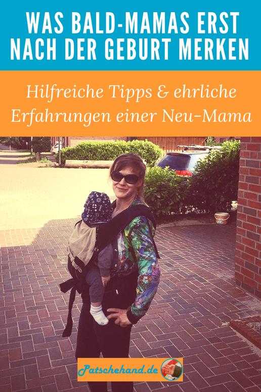 Pinterest-Grafik zur Erstausstattung und ersten Zeit mit Baby zum Pinnen und Teilen auf dem Mama-Blog patschehand.de