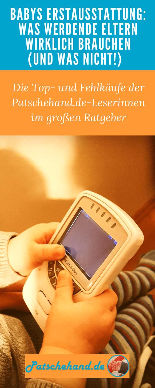 Ratgeber zur Erstausstattung fürs Baby mit Grafik zum Pinnen und Teilen auf Mama-Blog Patschehand.de