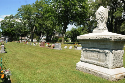 After the DeWitt family bought 40 funeral plots officials are reviewing the number of plots to reserve to a family at Zeeland Cemetery. Dennis R.J. Geppert/Sentinel Staff