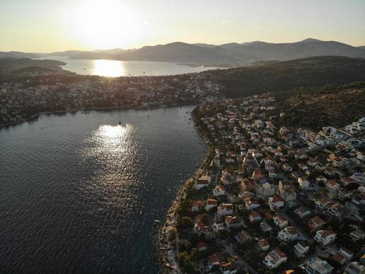 Bucht von Mavarcica aus der Vogelperspektive