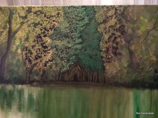 Landschaftsbild Wald, noch nicht fertig