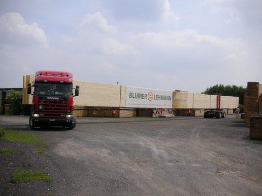 Transport von Holzbindern