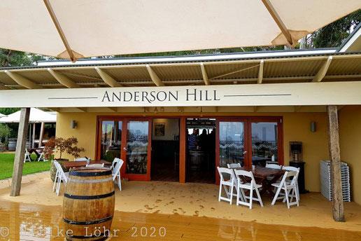 Anderson Hill von der Terrasse aus gesehen