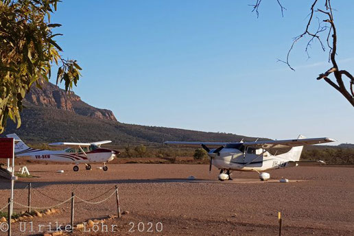 Flugzeuge auf dem Rawnsley Park Airstrip