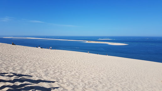 Dune du Pylat, Blick aufs Meer (C) Familienreisefieber