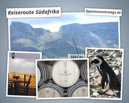 Reiseroute Südafrika: Nationalparks und Genuss