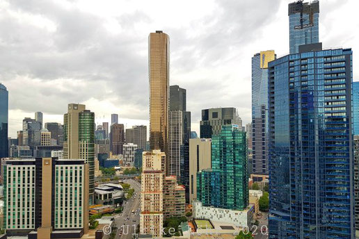 Blick vom Balkon unseres Apartments bei Melbourne Short Stay Apartments MP Deluxe