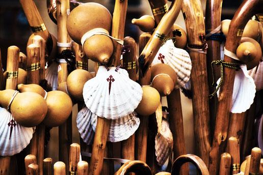 Pilgersouvenirs in Santiago de Compostela (C) Kekse und Koffer