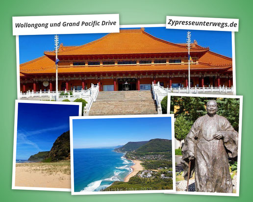 Tempel und Pazifik: Wollongong und Grand Pacific Drive