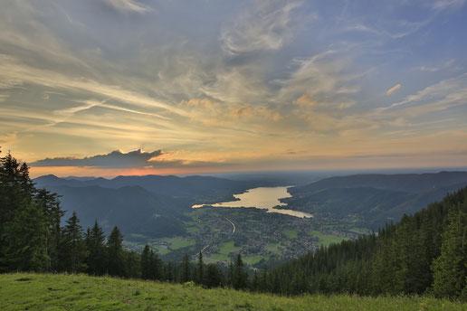 Tegernseer Tal Tourismus: Seeblick vom Wallberg (C) Egbert Krupp