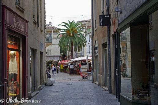 in der Rue de l'Hôtel de ville in Nimes