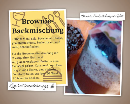 Brownie-Backmischung im Glas