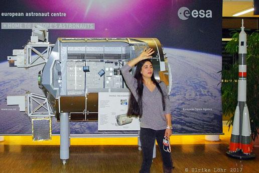 Laura Winterling im Europäischen Astronautenzentrum