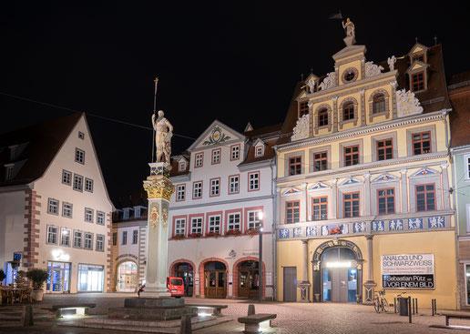 Erfurter Fischmarkt bei Nacht (C)snoopsmaus