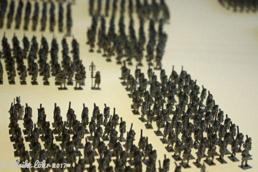 Aufstellung der römischen Legionen im Museum Kalkriese