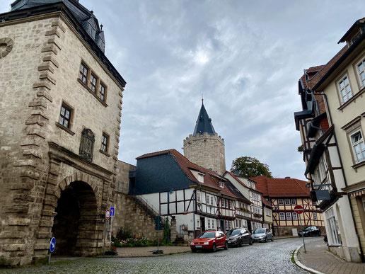 Altstadtstrasse in Mühlhausen (C) Teilzeitreisender
