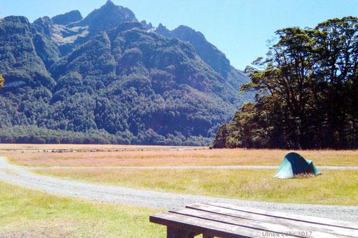 Picknick Platz zwischen Milford Sound und Te Anau