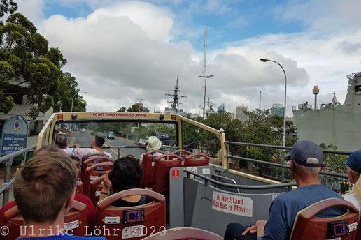 Oberdeck des BigBus in Sydney