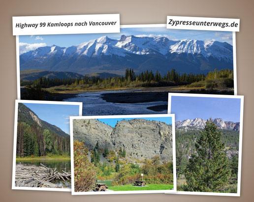 Kanada: Unterwegs auf dem Highway 99 zwischen Kamloops, Whistler und Vancouver