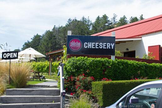 Gibbston Valley Cheese an der SH 6 zwischen Queenstown und Cromwell