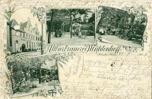 1897: Altbierbrauerei Mühlenhoff - Sammlung Stoffers (Münsterländische Bank Thie - Stadtarchiv)