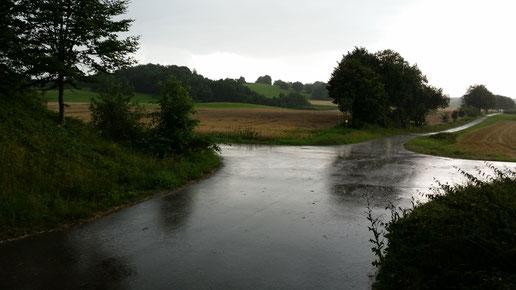 Gewitter und Regen bei Heroldstatt